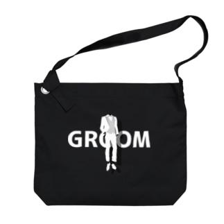 ペア(GROOM)タキシード_白_FW Big Shoulder Bag