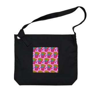 誘惑のフライドポテト🍟 ピンクAO / FRENCH FRIES GULTY PLEASURE Big shoulder bags