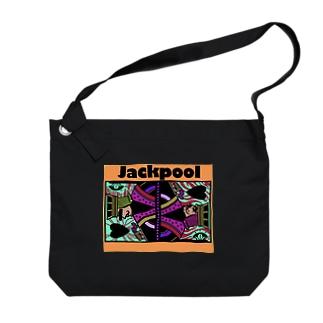 Jackpoolトランプ柄 Big shoulder bags