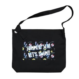 Summer!Sea!Let's swim!! Big shoulder bags