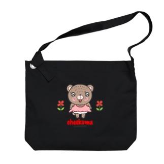 ちーくまちゃん(お花) Big shoulder bags