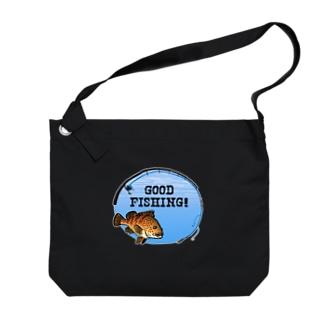 キジハタ_1_C Big shoulder bags