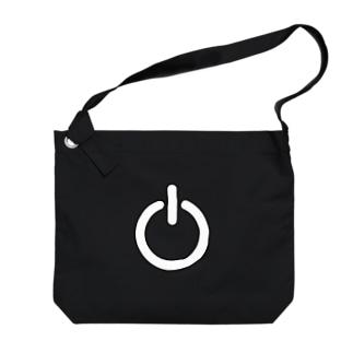 電源ボタン Big shoulder bags