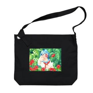 夏の花 Big shoulder bags