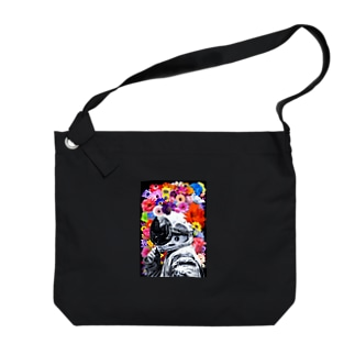 ASTRONAUT and FLOWERS Big shoulder bags