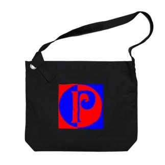 P Big shoulder bags