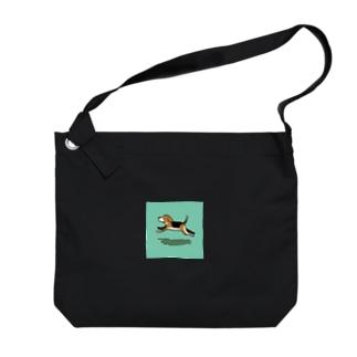 ひゃんひゃん Big shoulder bags