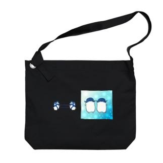 ふたごのフェアリーペンギン(キラキラロゴつき) Big Shoulder Bag