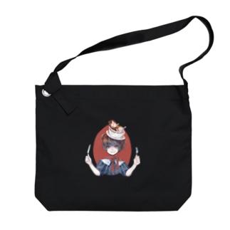 ツユとシルのごちそうモルモット Big Shoulder Bag