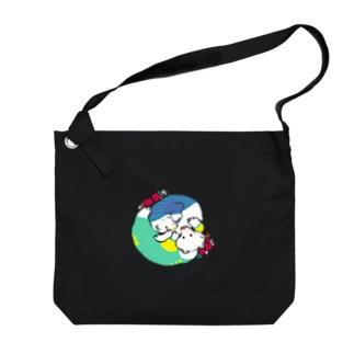 mya-mya=MIYA JUNKO's shop 02のクマとクマでぐるぐる Big shoulder bags