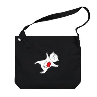 レッドビッグピックピッグ Big shoulder bags