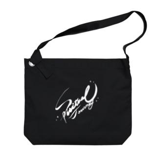 フリーハンドロゴ Big shoulder bags