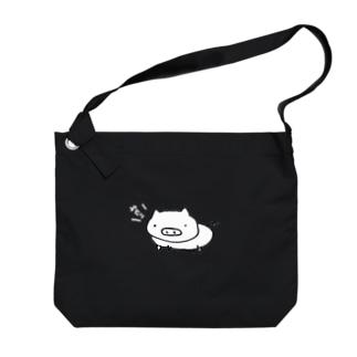 ブヒ豚(白豚):鳴き声白 Big shoulder bags