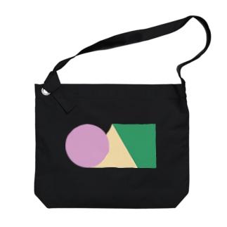 ●▲■アースカラー Big shoulder bags
