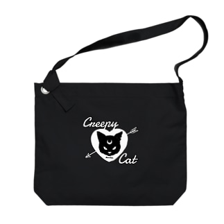 【MOON SIDE】 Creepy Cat #Black Ver.2 Big shoulder bags