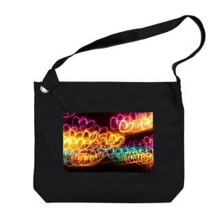 ハート Big shoulder bags