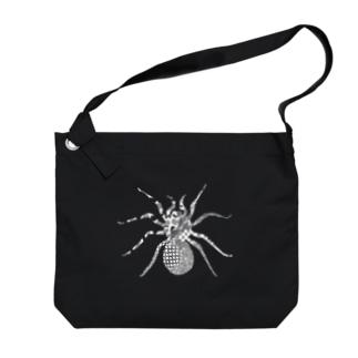 ルブロンオオツチグモ白 Big Shoulder Bag