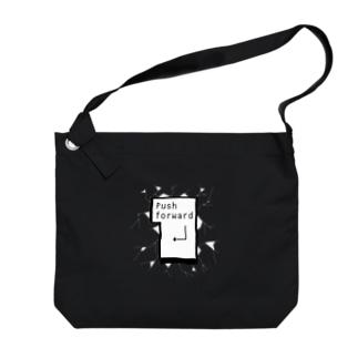 突き進め モノクロ2 Big Shoulder Bag
