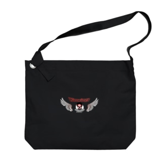 荒ぶる桜文鳥さん Big shoulder bags