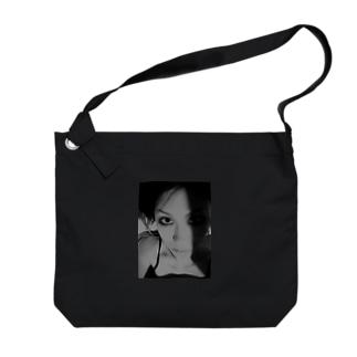[Strychnine] zAkro フォトカード柄~壱~(モノクロ) Big shoulder bags
