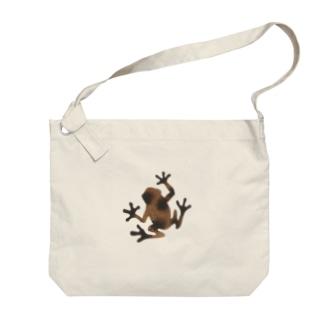 茶色いカエル Big shoulder bags