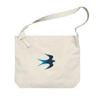 青い鳥 Big shoulder bags