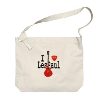 I LOVE LesPaul Big shoulder bags