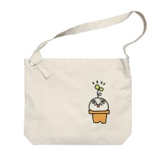 鉢植えモチゾー Big shoulder bags