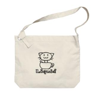 猫は液体 Big shoulder bags