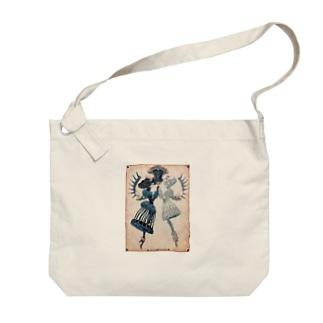 【シザーズクラウン】白黒鸚鵡貝羊たちの黙々 Big shoulder bags