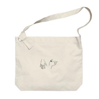 手_simple Big shoulder bags