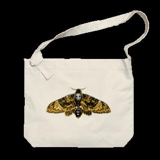 Ojikのクロメンガタスズメガ Big shoulder bags