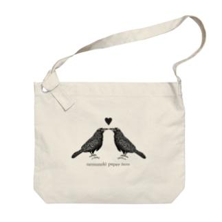 Lovers Crow Big shoulder bags
