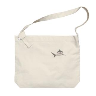 ほわっとサメ/ぽんっとワンポイント Big shoulder bags