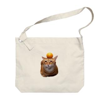 カッコイイ、家の男前にゃんこ Big shoulder bags