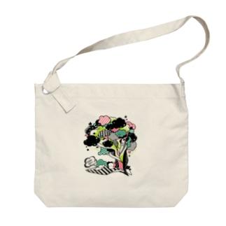 ピクニックな食パンちゃん Big Shoulder Bag