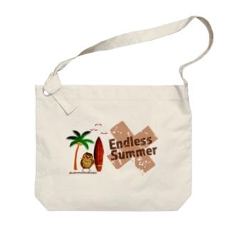 aliveONLINE SUZURI店のだいきち(サマホリ)EndlessSummer Big shoulder bags