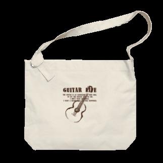 TACAのグッズ売り場のギターライフ茶 Big shoulder bags