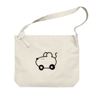 ネズミcar Big shoulder bags