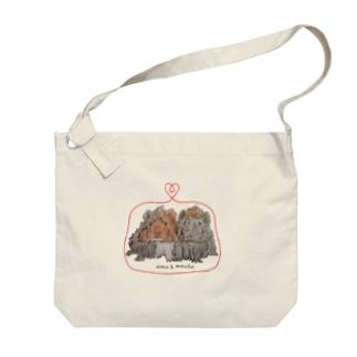 omu&mocha Big shoulder bags