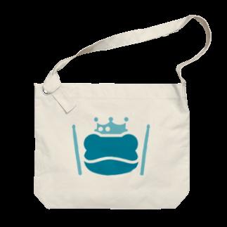 SABUROのカエル ドラム ロゴ2019 ブルー Big shoulder bags