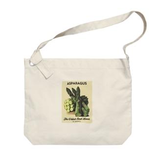 アスパラガス Big shoulder bags