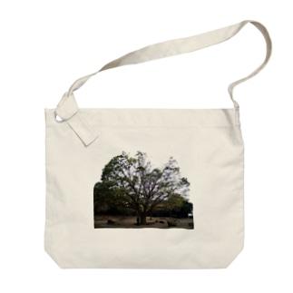 広葉樹 Big shoulder bags