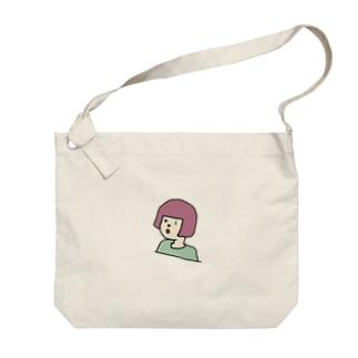 okappa riko さくらもちカラー Big shoulder bags
