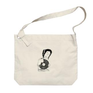 レコードふきふき Big shoulder bags
