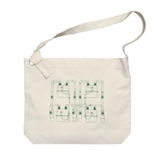 大型ガスメーター(色付き2) Big shoulder bags