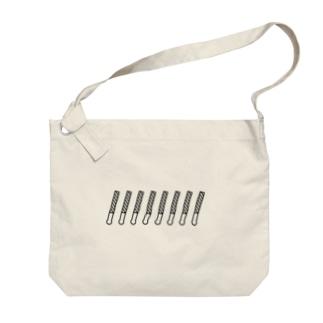 ペンライト(ボーダー) Big shoulder bags