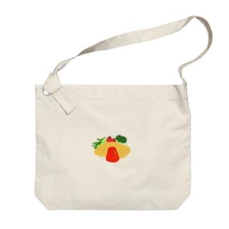 改心したオムライス Big shoulder bags
