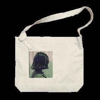 Salonのshampooパッツン Big shoulder bags