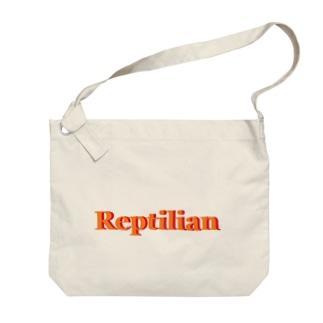 Reptilian ヒト型爬虫類 グッズ Big shoulder bags